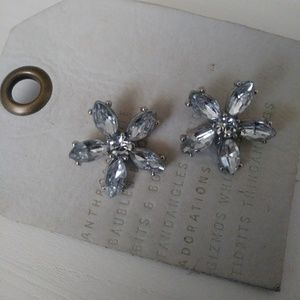 NWT Anthropologie Flower Stud Earrings